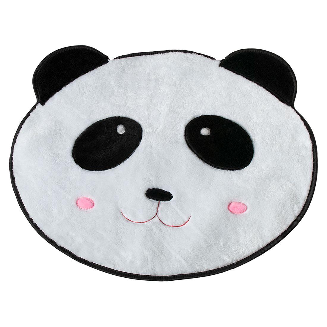 Tapete Infantil Premium Formato Panda Branco/Preto 74cm x 64cm
