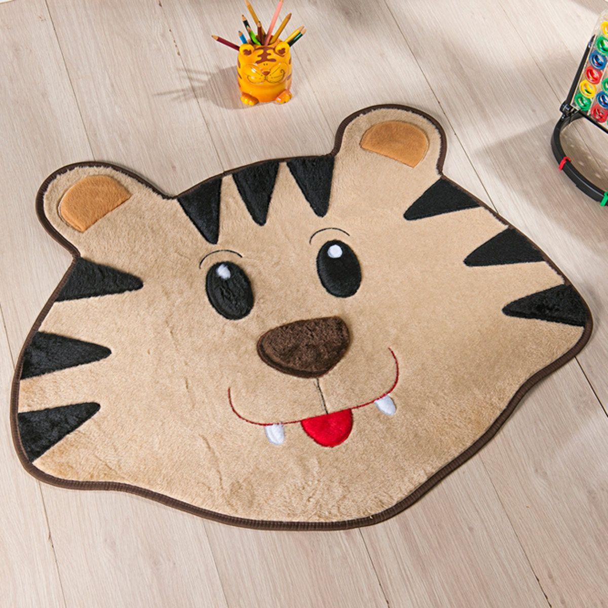 Tapete Infantil Premium Formato Tigre Bege 78cm x 66cm