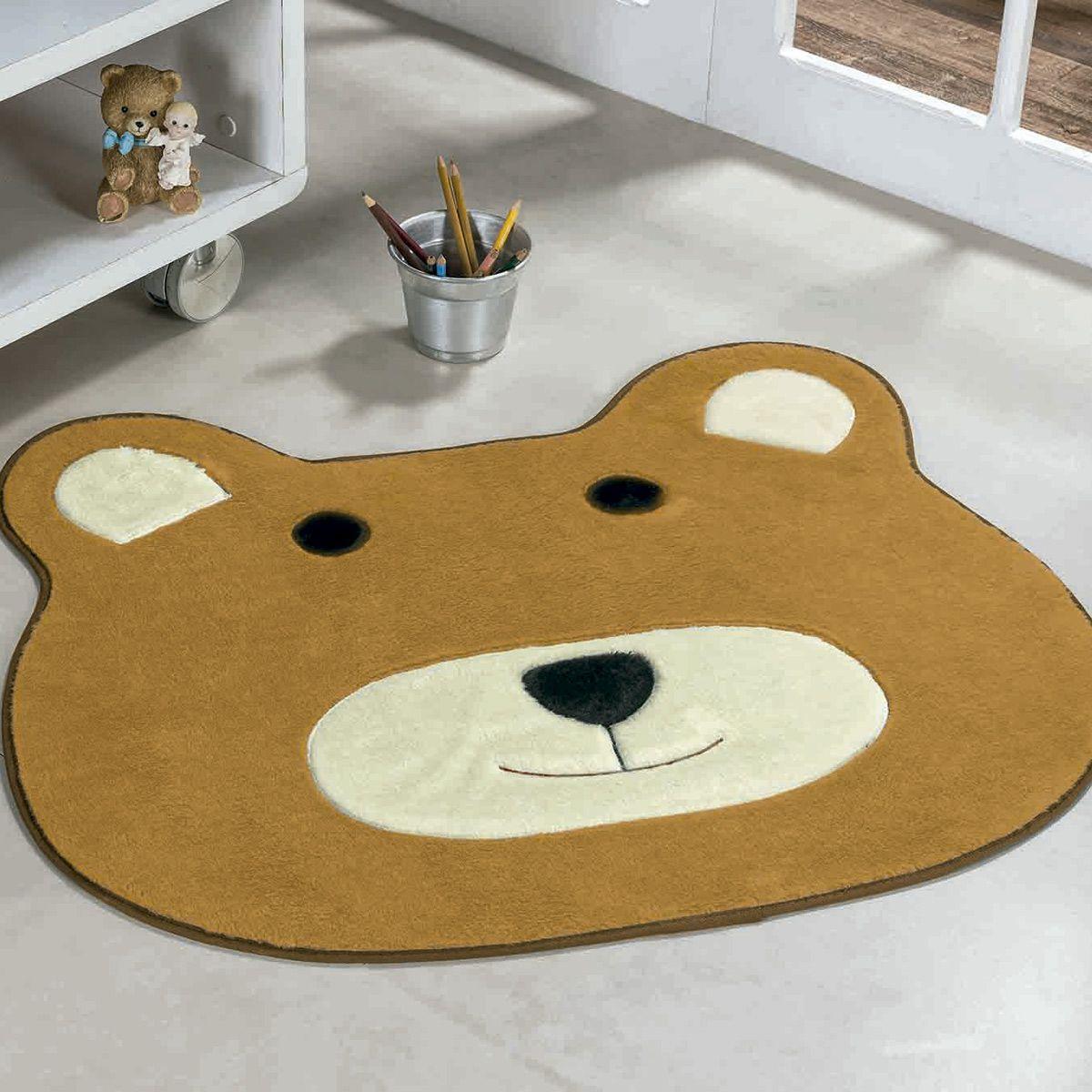 Tapete Infantil Premium Formato Urso Caramelo 74cm x 64cm