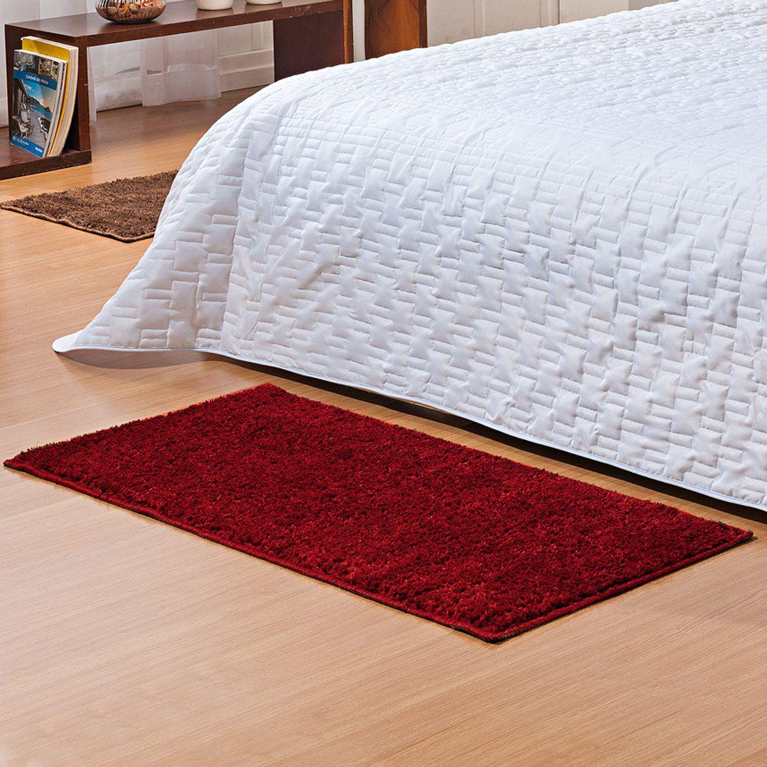 Tapete Retangular Oasis Cereja Liso 1,00m x 50cm