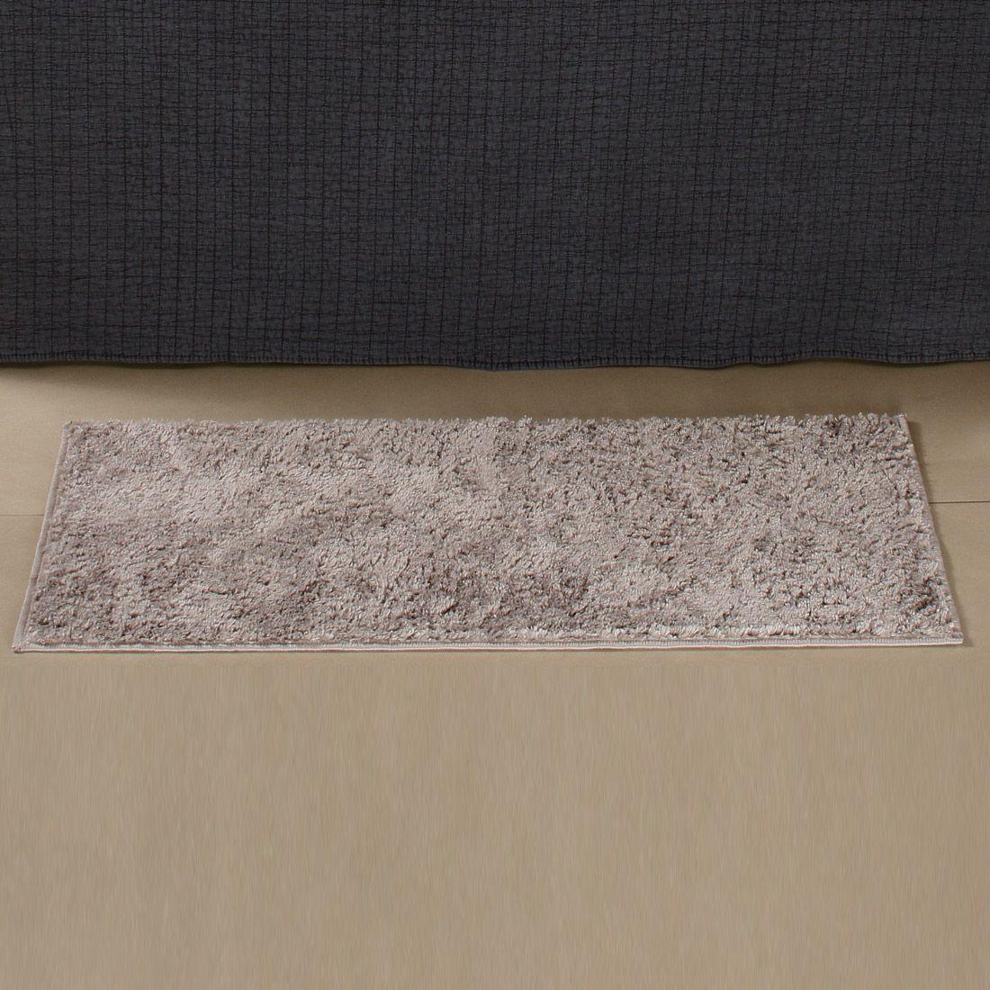 Tapete Retangular Oasis Cinza Liso 1,00m x 50cm