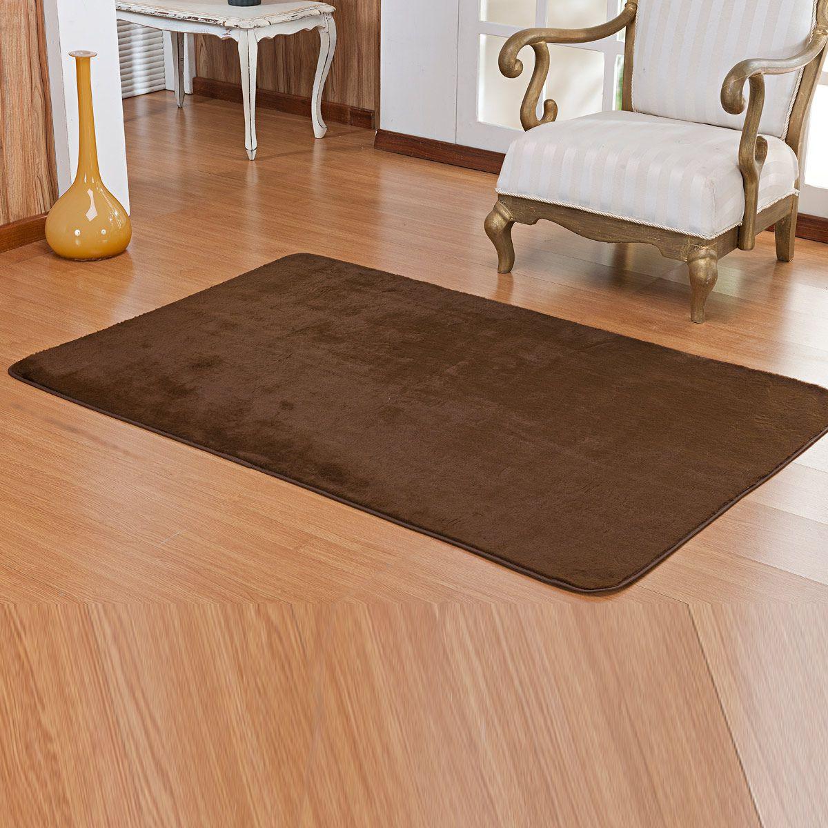 Tapete Retangular Premium p/ Sala Café Liso 1,50m x 1,00m