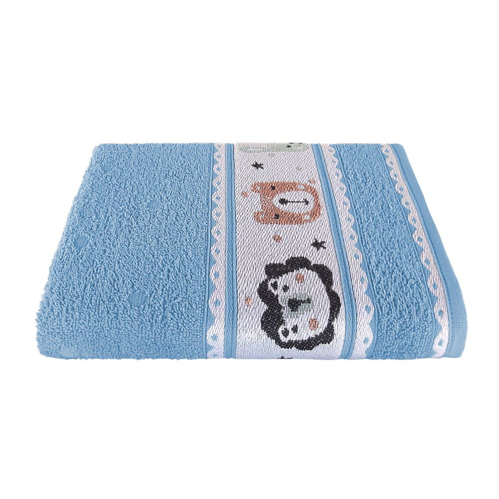 Toalha de Banho Avulsa Puppy Azul Jacquard 380 g/m² 100% Algodão