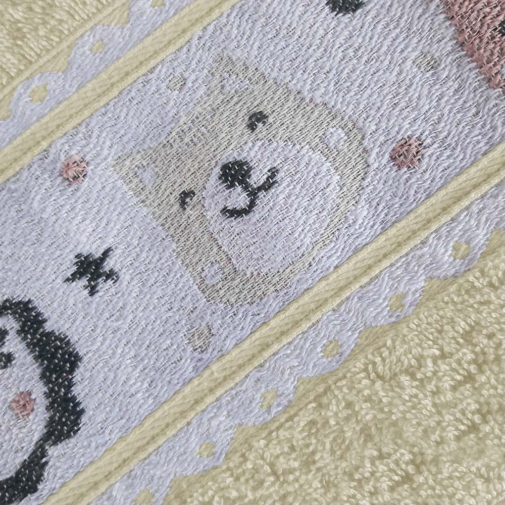 Toalha de Banho Avulsa Puppy Pérola Jacquard 380 g/m² 100% Algodão