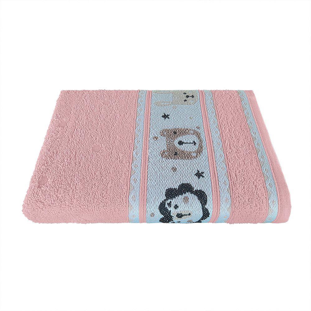 Toalha de Banho Avulsa Puppy Rosa Jacquard 380 g/m² 100% Algodão