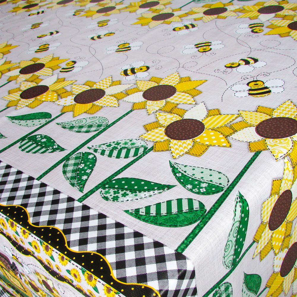 Toalha de Mesa PVC Térmica Girassol 1,40m x 2,00m - 6 Lugares