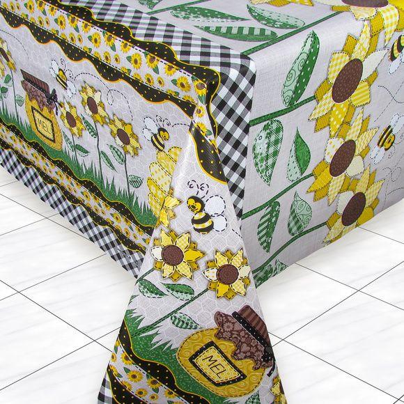 Toalha de Mesa PVC Térmica Girassol 1,40m x 2,50m - 8 Lugares