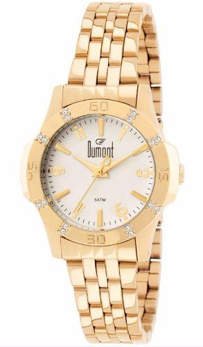 Relógio Feminino Dumont Dourado Sa85108/4b