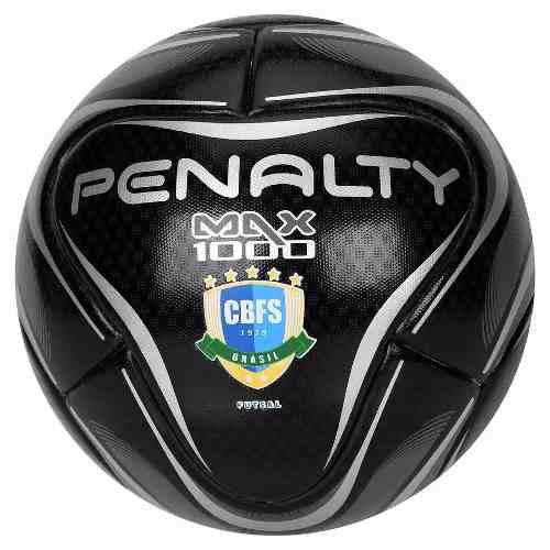b3009a77c6fb2 Bola De Futsal Penalty Oficial Max 1000 Profissional Black - Naná Sports