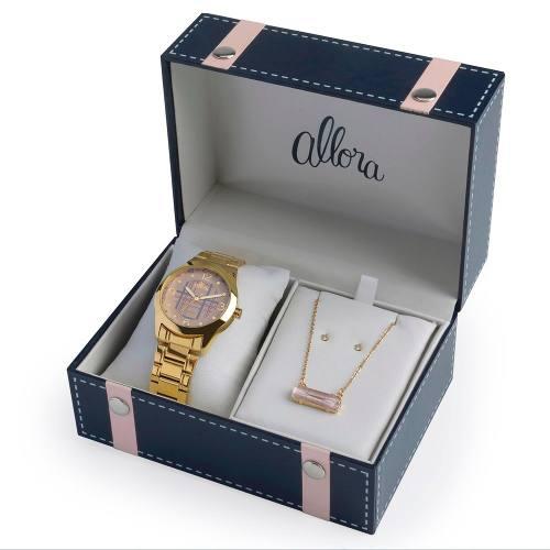 Relógio Feminino Allora Xadrez Al2035fbo/k4x