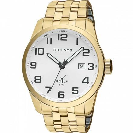 Relógio Technos Dourado Masculino Golf