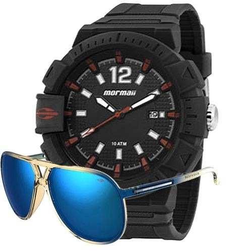 Kit Relógio Mormaii Masculino Action Com Óculos Mo15oc/37