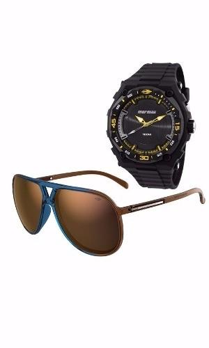 Kit Relógio Mormaii Masculino Com Óculos Mo15oc/50