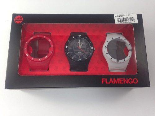 Kit Relógio Technos Flamengo Fla502a/8p Troca Pulseira