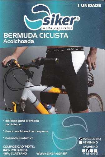Bermuda Ciclista Masculina Siker Acolchoada