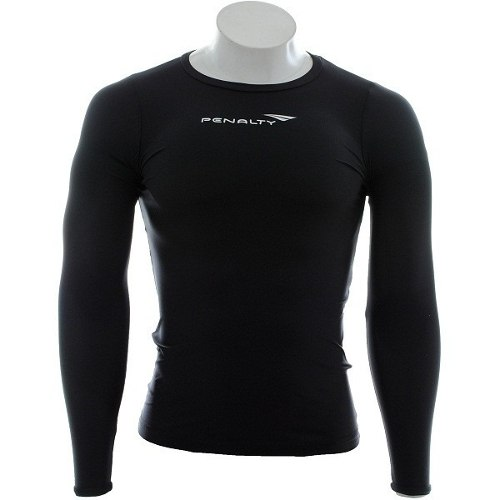Camisa Térmica Penalty Compressão Matis Manga Longa - Preta