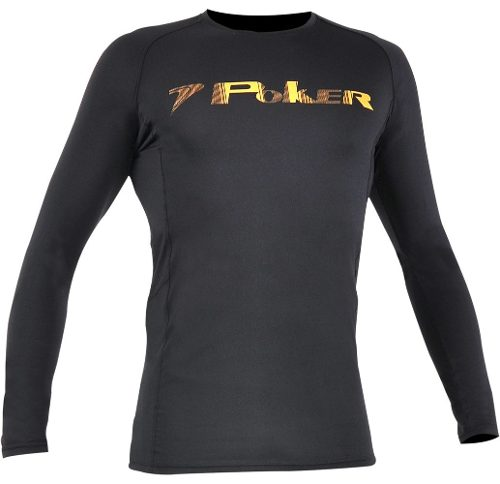 Camisa De Goleiro Poker Under Compressão Manga Longa - Preto 117370b2db6f3