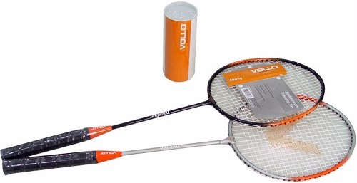 Kit Badminton Vollo 2 Raquetes + 3 Petecas + Bolsa Vxd016