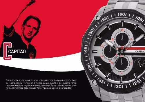 Relógio Do Goleiro Rogério Ceni Do São Paulo Technos Saojs10ab/3p