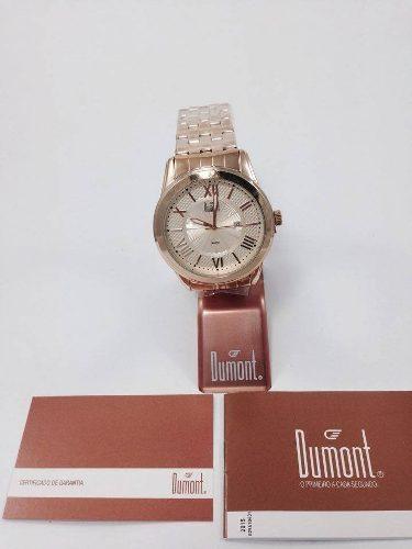 Relógio Dumont Dourado Masculino Du2115bu/4d