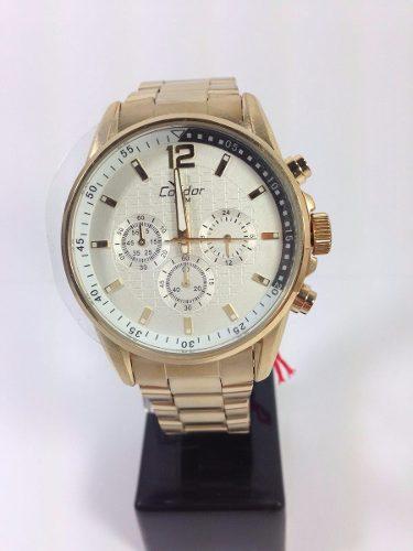 Relógio Condor Masculino Dourado - Ky80203/4b