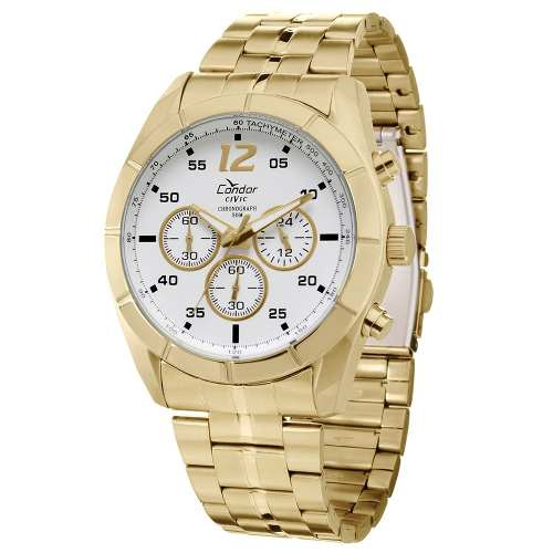 Relógio Condor Masculino Dourado - Ky80141/4b