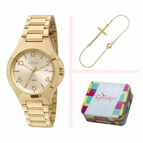 Relógio Condor Feminino Kit Com Pulseira Co2115sw/4x