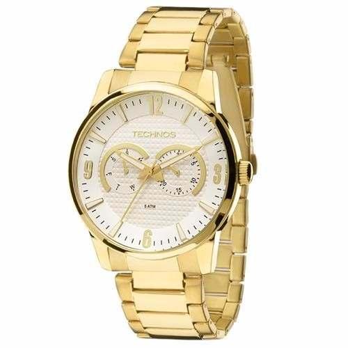 Relógio Technos Masculino Dourado Classic 6p25an4k
