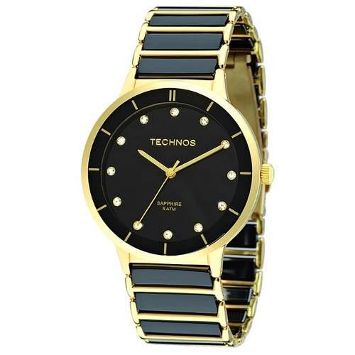 eb43237089a2a Relógio Technos Elegance Ceramic Feminino 2036lmo 4p - Naná Sports