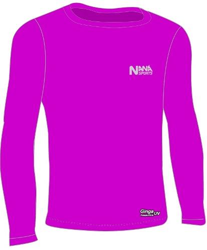 Camisa De Compressão Térmica Manga Longa Proteção Solar Uv - Naná Sports c5627ae058db8