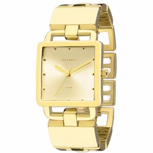 83948b05e57 Relógio Technos Feminino Dourado Unique 2035lti 4d - Naná Sports