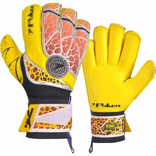 Luva De Goleiro Poker Pro Champion Color Amc/lac
