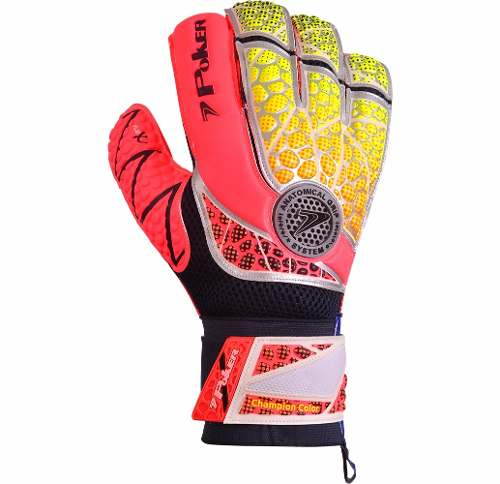 Luva De Goleiro Poker Pro Champion Color Roc/amc