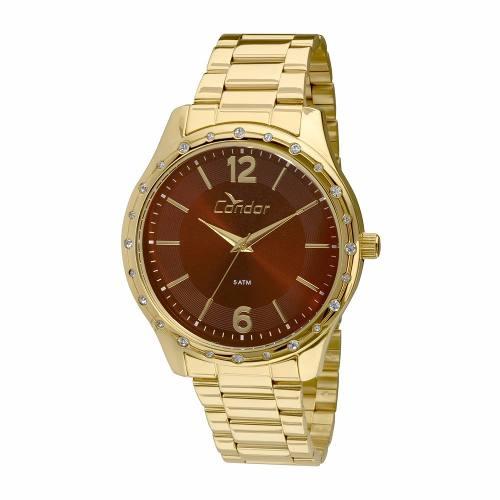 Kit Relógio Feminino Condor Eterna Dourado - Co2035kmi/k4r