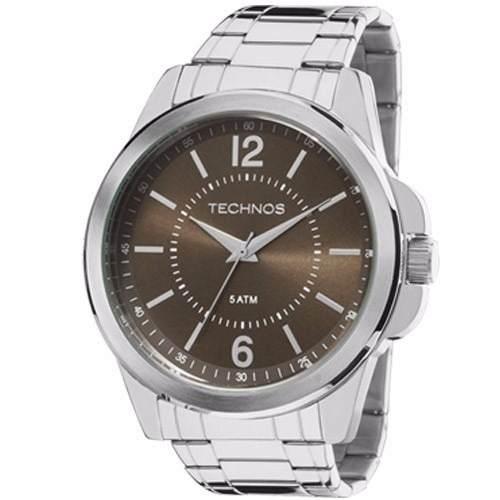Relógio Technos Masculino Prata Classic Steel 2035mde 1m - Naná Sports 7db1cce5fe