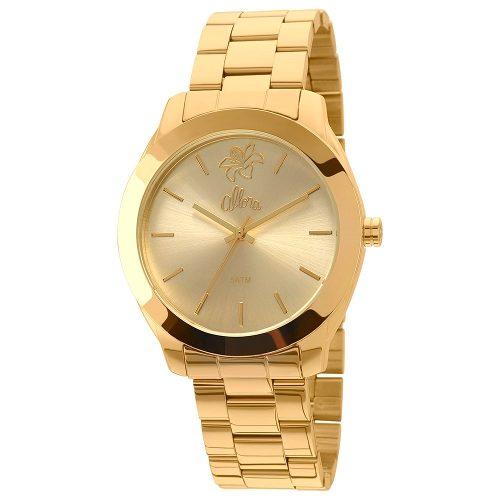 Relógio Feminino Jardins De Allora Dourado- Al2035fbc/4d
