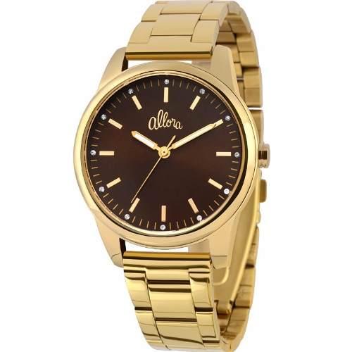 Relógio Allora Feminino Analógico Dourado - Al2035es/4m