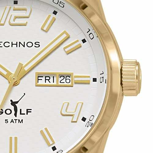 Relógio Technos Dourado Masculino Golf  Relógio Technos Dourado Masculino  Golf ... 024671b764