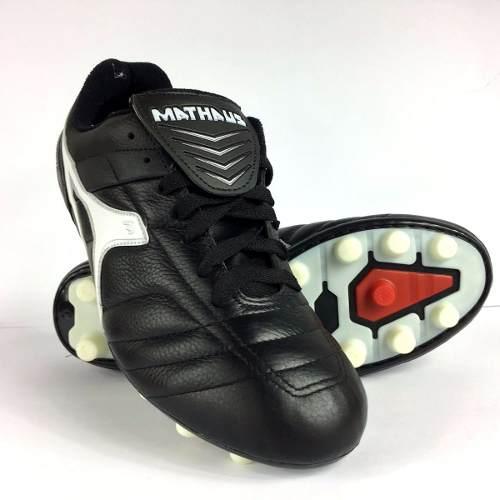 Chuteira De Futebol Mathaus Premium Em Couro