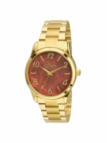 Relógio Condor Feminino Dourado Co2039ab/4t