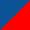 Azul escuro / Vermelho