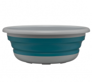 Bacia Retrátil Sanfonada 8 Litros Plástico Azul e Cinza FlashLimp