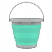 Balde Retrátil Sanfonado 5 Litros Plástico Verde FlashLimp