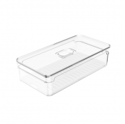 Organizador Clear Fresh 2,8 Litros Com bandeja de Drenagem