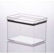 Pote Hermético Acrílico Cristal Retangular 1800ml Paramount
