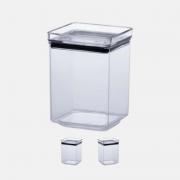 Pote Hermético Acrílico Cristal Quadrado - (1.000ml)