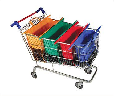 Bag Organizador Para Compras kit 4 Unidades