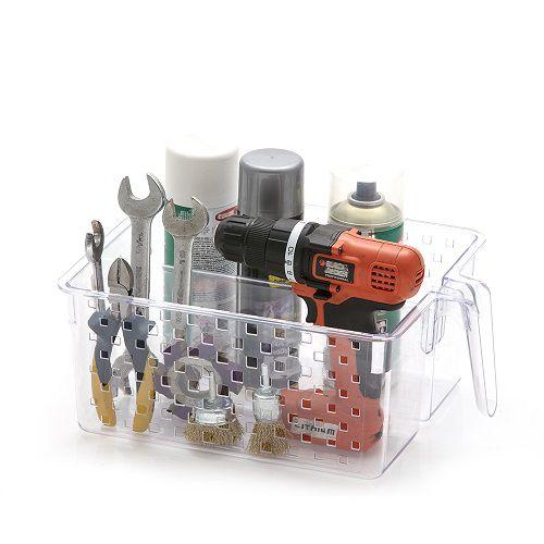 Cesto Organizador com Alça e Divisória Cristal - TAM 3