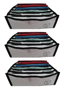 Colmeia Organizadora de Camiseta Pr - Kit com 3 Peças