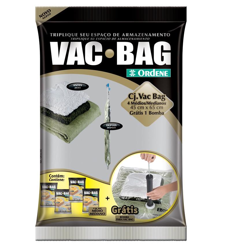 Conjunto VAC BAG  (Bomba + 4 médios)